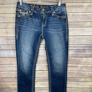 Rock Revival Letbury Easy Straight Womens 29 Jeans